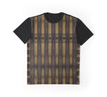 Elegant Gold Shards in a Tribal Moire Pattern Graphic T-Shirt