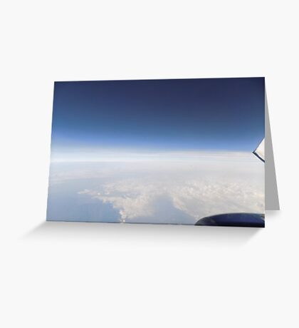 Airplane view Greeting Card