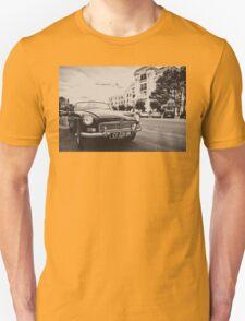 Black convertible MG Unisex T-Shirt