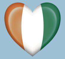 Ivory Coast Heart Flag Baby Tee