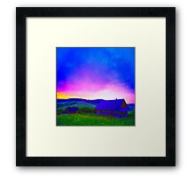Escape to the Country - Oil Painting Framed Print