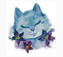 Cat and flowers Kids Tee