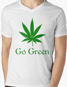Vape Nation- go green Mens V-Neck T-Shirt