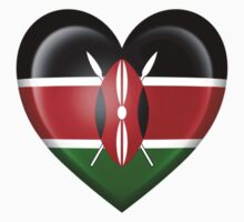 Kenyan Heart Flag Kids Tee