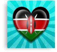 Kenyan Heart Flag Canvas Print