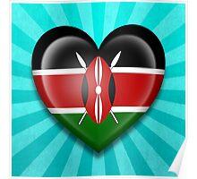 Kenyan Heart Flag Poster