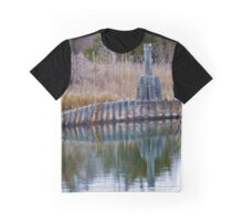 Reflection Of A Sunken Boat | East Marion, New York Graphic T-Shirt