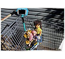 Shopping Trolley Selfie Dolls  Poster