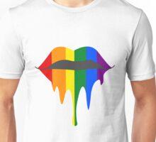 Gay Pride Lips Unisex T-Shirt