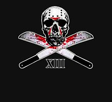 Hockey Mask Skull and Machetes Women's Fitted Scoop T-Shirt