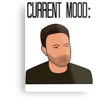 Sad Ben Affleck Cartoon Metal Print