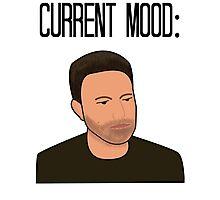 Sad Ben Affleck Cartoon Photographic Print