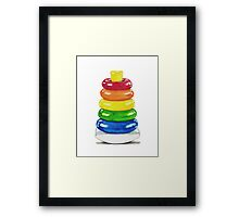 Retro stacking rings. Framed Print