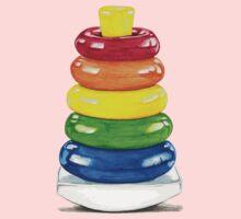 Retro stacking rings. Kids Tee