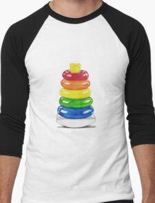 Retro stacking rings. Men's Baseball ¾ T-Shirt