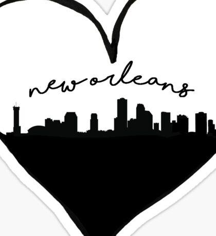 New Orleans City Love Sticker