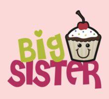 Big sister cupcake One Piece - Long Sleeve