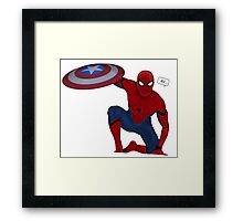 Spider-man civil war Framed Print