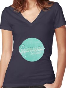 the town next to eagleton Women's Fitted V-Neck T-Shirt