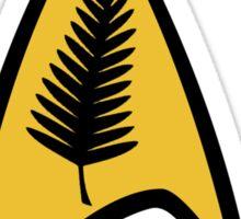 Kiwi Style Silver Fern Star Trek Delta. Sticker