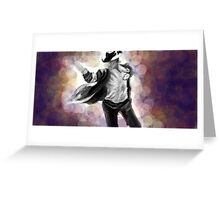 illustration of Michael Jackson Greeting Card
