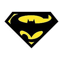 mixed super hero logo Photographic Print
