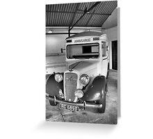 Wartime Ambulance Greeting Card