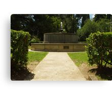 Memorial Fountain Canvas Print