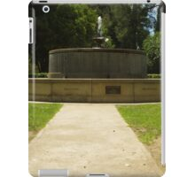Memorial Fountain iPad Case/Skin