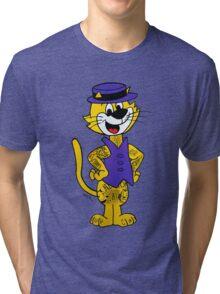 Top Cat inked up. Original artwork by WRTISTIK. Tri-blend T-Shirt