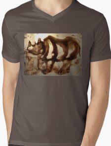 Dicerorhinus  Mens V-Neck T-Shirt
