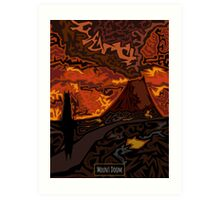 Mount Doom Scenery Art Print