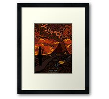 Mount Doom Scenery Framed Print