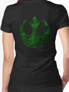 Rebel Alliance Symbol Women's Fitted V-Neck T-Shirt