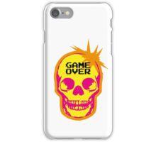 GAME OVER punk skull iPhone Case/Skin