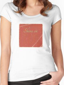 Shine on Mom Women's Fitted Scoop T-Shirt