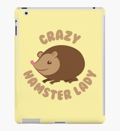 Crazy hamster lady (circle) iPad Case/Skin