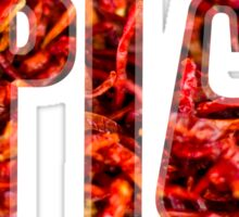 Spicy red hot chilies Sticker