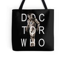Doctor Who - Cyberman Title [Black] Tote Bag
