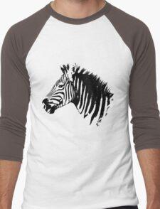MBIZI Original Zebra Men's Baseball ¾ T-Shirt