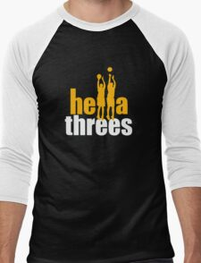 Hella Threes Men's Baseball ¾ T-Shirt