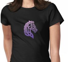 Celtic Horse_Pink & Purple Blend Womens Fitted T-Shirt