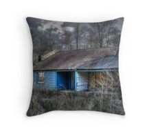 The Blue Shed Throw Pillow
