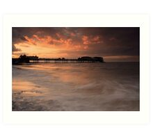 At Day's End - Cromer Pier, Norfolk Art Print