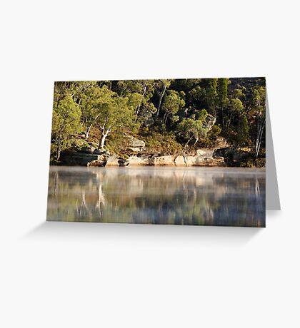 Foggy start at Dunns Swamp Greeting Card