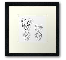 Geometric Stag and Doe Framed Print