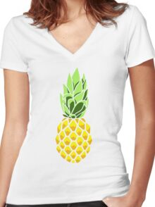 Pineapple Women's Fitted V-Neck T-Shirt