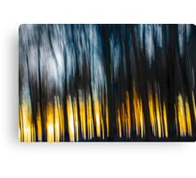 Forest Sunset in the Snow Canvas Print