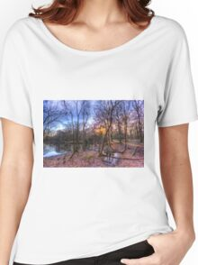 Early morning Forest Pond Women's Relaxed Fit T-Shirt