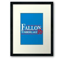 Fallon Timberlake 16 Presidential Political Framed Print